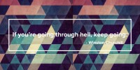 if youre going through hell